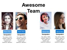 Awesome Team Ppt Presentation Examples