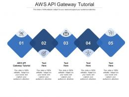 AWS API Gateway Tutorial Ppt Powerpoint Presentation Infographics Smartart Cpb