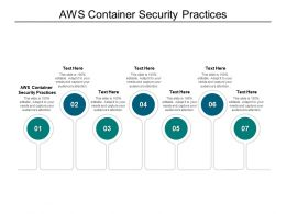 AWS Container Security Practices Ppt Powerpoint Presentation Pictures Infographic Cpb