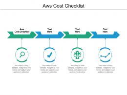 AWS Cost Checklist Ppt Powerpoint Presentation Summary Brochure Cpb
