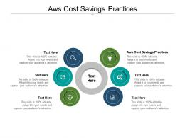 AWS Cost Savings Practices Ppt Powerpoint Presentation Outline Summary Cpb