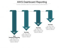 AWS Dashboard Reporting Ppt Powerpoint Presentation Infographic Template Master Slide Cpb