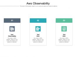 Aws Observability Ppt Powerpoint Presentation Slides Objects Cpb