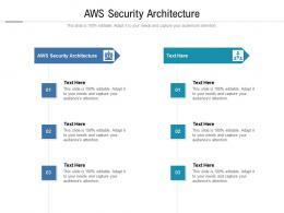 AWS Security Architecture Ppt Powerpoint Presentation Infographic Template Graphics Example Cpb