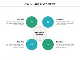 Aws Simple Workflow Ppt Powerpoint Presentation Infographic Template File Formats Cpb