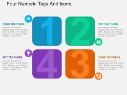 ax Four Numeric Tags And Icons Flat Powerpoint Design