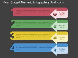 ax Four Staged Numeric Infographcis And Icons Flat Powerpoint Design