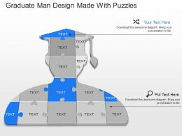 ax Graduate Man Design Made With Puzzles Powerpoint Template