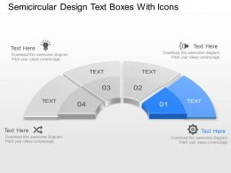 Ax Semicircular Design Text Boxes With Icons Powerpoint Template