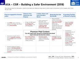 AXA CSR Building A Safer Environment 2018