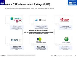 AXA CSR Investment Ratings 2018