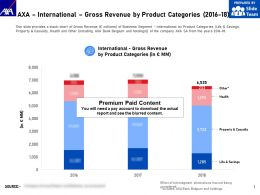 AXA International Gross Revenue By Product Categories 2016-18