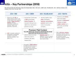 AXA Key Partnerships 2018