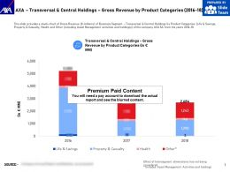 AXA Transversal And Central Holdings Gross Revenue By Product Categories 2016-18
