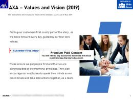 AXA Values And Vision 2019