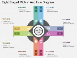 ay Eight Staged Ribbon And Icon Diagram Flat Powerpoint Design