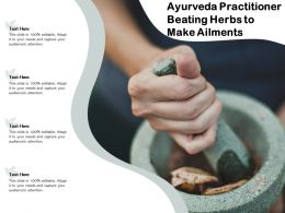 Ayurveda Practitioner Beating Herbs To Make Ailments