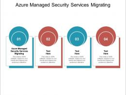 Azure Managed Security Services Migrating Ppt Powerpoint Presentation Gallery Styles Cpb