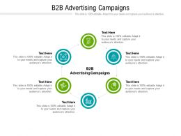 B2B Advertising Campaigns Ppt Powerpoint Presentation Pictures Background Images Cpb