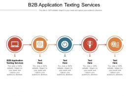 B2B Application Texting Services Ppt Powerpoint Presentation Slides Graphics Tutorials Cpb