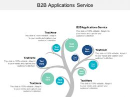 B2B Applications Service Ppt Powerpoint Presentation File Images Cpb