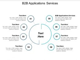 B2B Applications Services Ppt Powerpoint Presentation Gallery Inspiration Cpb