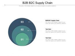 B2B B2C Supply Chain Ppt Powerpoint Presentation Inspiration Format Ideas Cpb