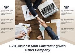 B2b Business Man Contracting With Other Company
