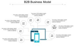 B2B Business Model Ppt Powerpoint Presentation Gallery File Formats Cpb
