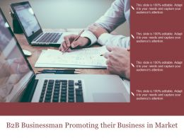 B2b Businessman Promoting Their Business In Market