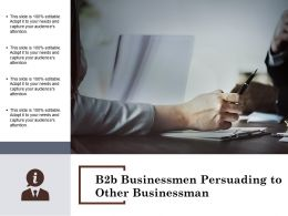B2b Businessmen Persuading To Other Businessman