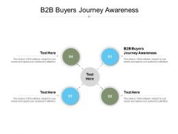 B2B Buyers Journey Awareness Ppt Powerpoint Presentation Outline Show Cpb