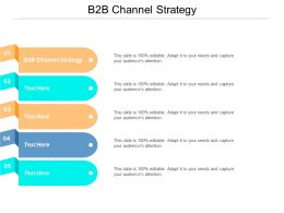 B2B Channel Strategy Ppt Powerpoint Presentation File Themes Cpb