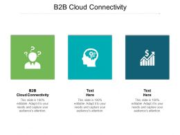 B2B Cloud Connectivity Ppt Powerpoint Presentation Icon Outline Cpb