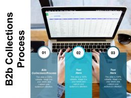 B2b Collections Process Ppt Powerpoint Presentation Pictures Gridlines Cpb