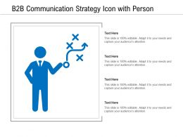 B2B Communication Strategy Icon With Person