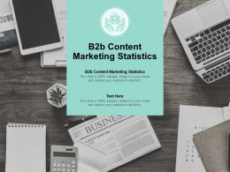 B2b Content Marketing Statistics Ppt Powerpoint Presentation File Slides Cpb