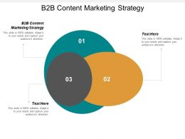B2B Content Marketing Strategy Ppt Powerpoint Presentation Ideas Graphic Images Cpb