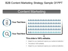 B2b Content Marketing Strategy Sample Of Ppt