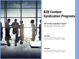 B2B Content Syndication Programs Ppt Powerpoint Presentation Professional Shapes Cpb