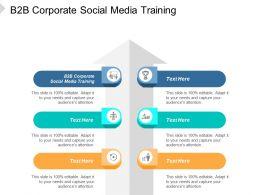 B2B Corporate Social Media Training Ppt Powerpoint Presentation File Tips Cpb