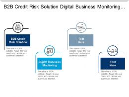 B2b Credit Risk Solution Digital Business Monitoring Strategic Alliance Cpb
