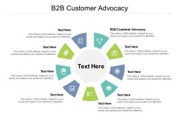 B2B Customer Advocacy Ppt Powerpoint Presentation Model Backgrounds Cpb