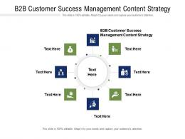 B2B Customer Success Management Content Strategy Ppt Powerpoint Presentation Infographics Infographics Cpb