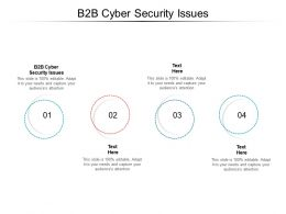 B2B Cyber Security Issues Ppt Powerpoint Presentation Pictures Structure Cpb
