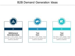 B2B Demand Generation Ideas Ppt Powerpoint Presentation File Infographic Template Cpb