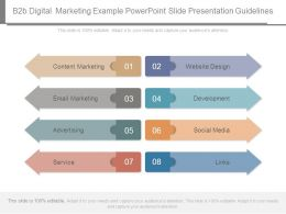 B2b Digital Marketing Example Powerpoint Slide Presentation Guidelines