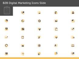 B2B Digital Marketing Icons Slide Ppt Powerpoint Presentation Model Diagrams