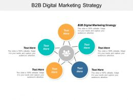 B2B Digital Marketing Strategy Ppt Powerpoint Presentation Icon Graphics Design Cpb