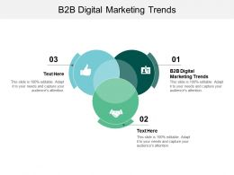 B2B Digital Marketing Trends Ppt Powerpoint Presentation Icon Rules Cpb